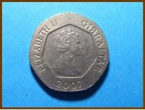 Гибралтар 20 пенсов 2007 г.