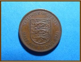 Джерси 1/2 пенса 1971 г.