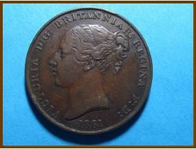 Джерси 1/13 шиллинга 1861 г.