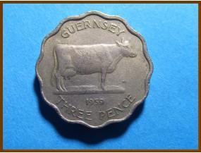 Гернси 3 пенса 1959 г.