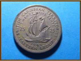Британские Карибские территории 25 центов 1965 г.