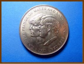 Великобритания 25 пенсов 1981 г.